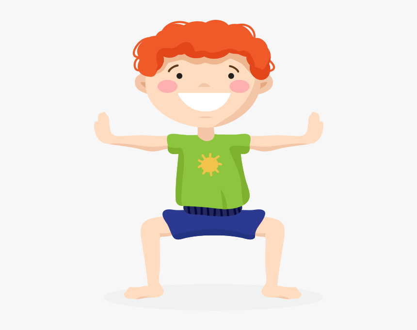 Kids Yoga Pose Four - Yoga Kids Png, Transparent Png, Free Download