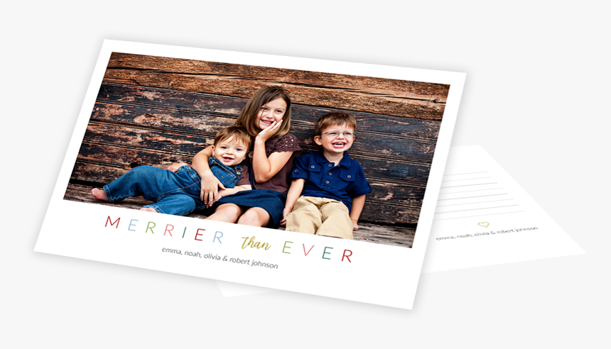 Two Holiday Card Templates On Top Of One Another In - Picture Frame, HD Png Download, Free Download