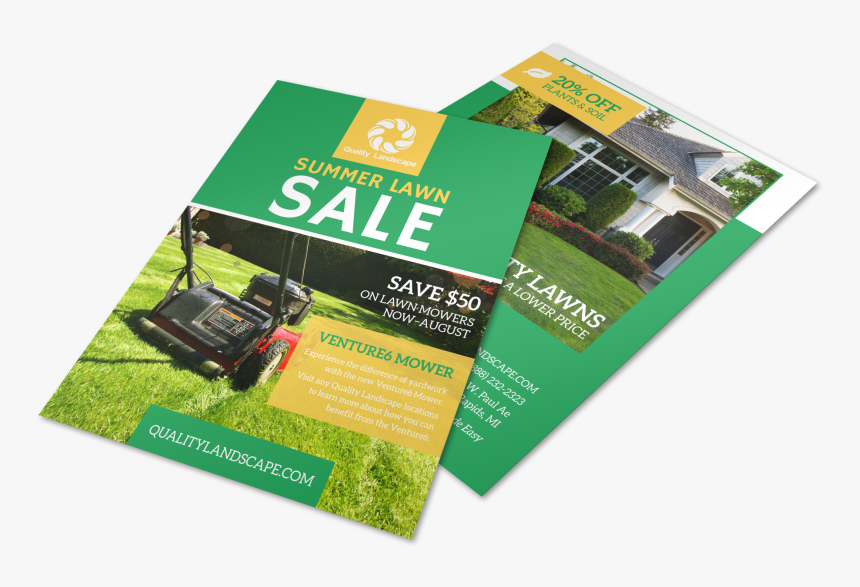 Lawn Mower Summer Offer Flyer Template Preview - Flyer, HD Png Download, Free Download