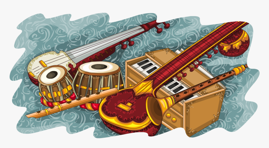 Indian Musical Instruments Collage, HD Png Download, Free Download