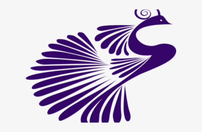 Peacock Clipart Purple - Peacock Png Silhouette, Transparent Png, Free Download