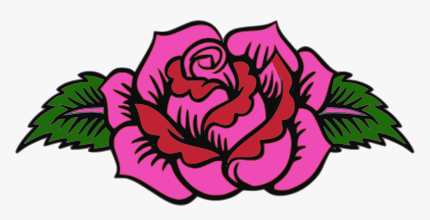 Garden Roses Floral Design Pink Day Of The Dead - Day Of The Dead Flower Designs, HD Png Download, Free Download