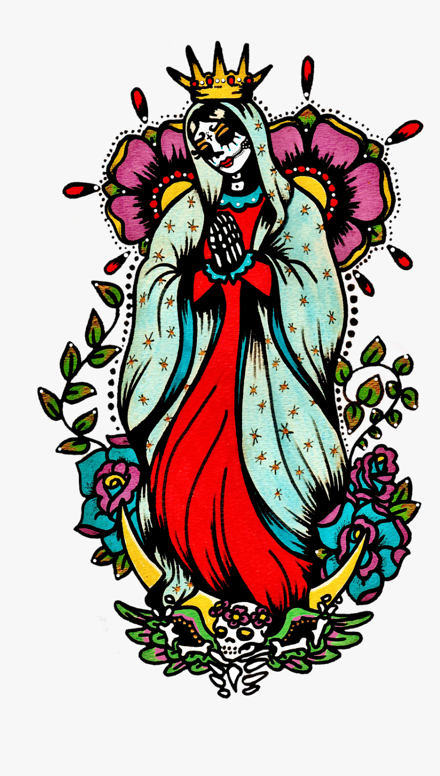 Virgin Mary Tattoo Art, HD Png Download, Free Download