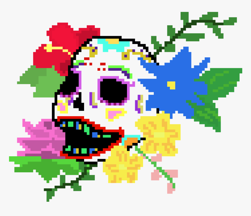 Day Of The Dead Pixel, HD Png Download, Free Download