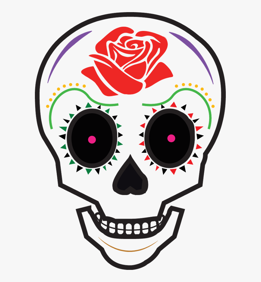 Animated Day Of The Dead Skull Clipart , Png Download - Day Of The Dead Cartoon Skull, Transparent Png, Free Download