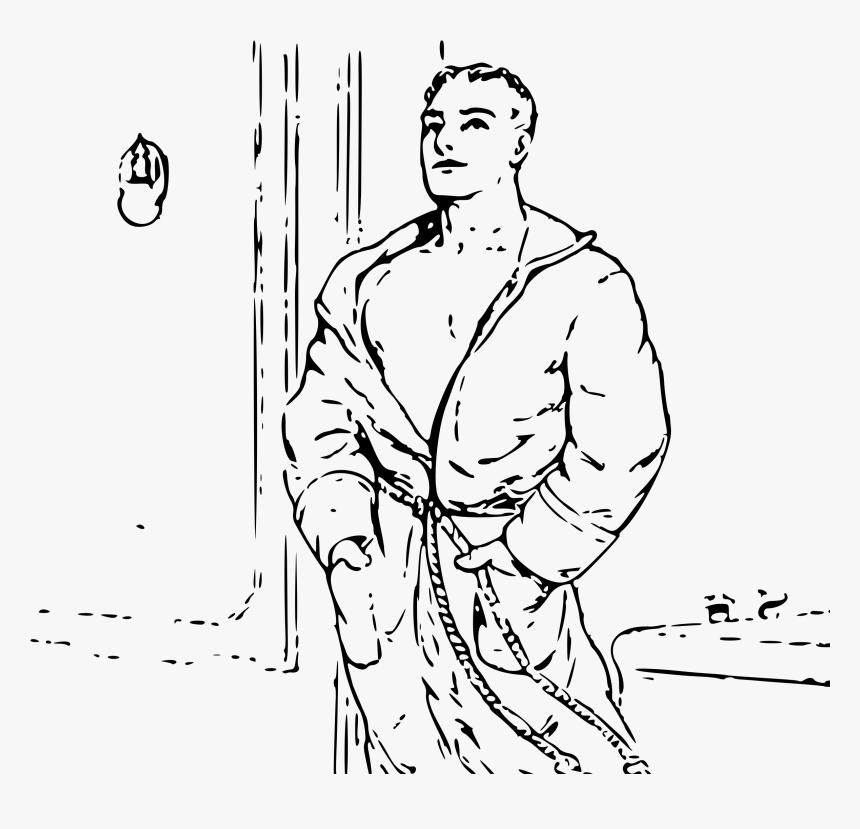 Man In Robe Clip Arts - Man In Bathrobe Cartoon, HD Png Download, Free Download
