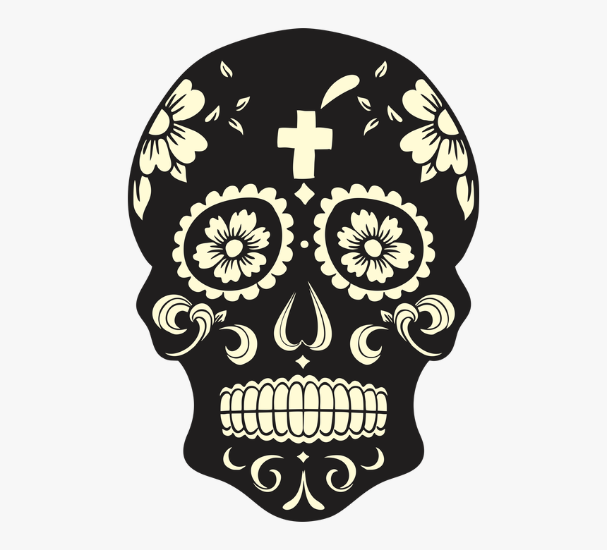 Coloring Page Free Day Of The Dead Printables - Dia De Los Muertos Mask Drawing, HD Png Download, Free Download