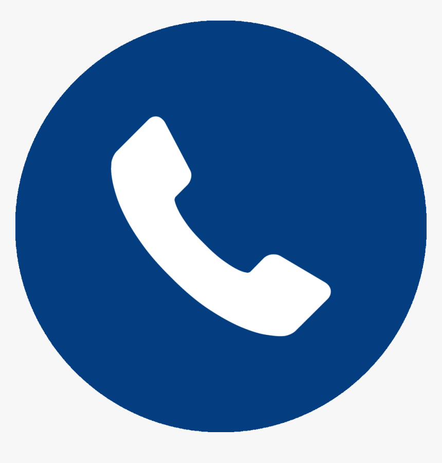 Telephone Icon Blue Png, Transparent Png - kindpng
