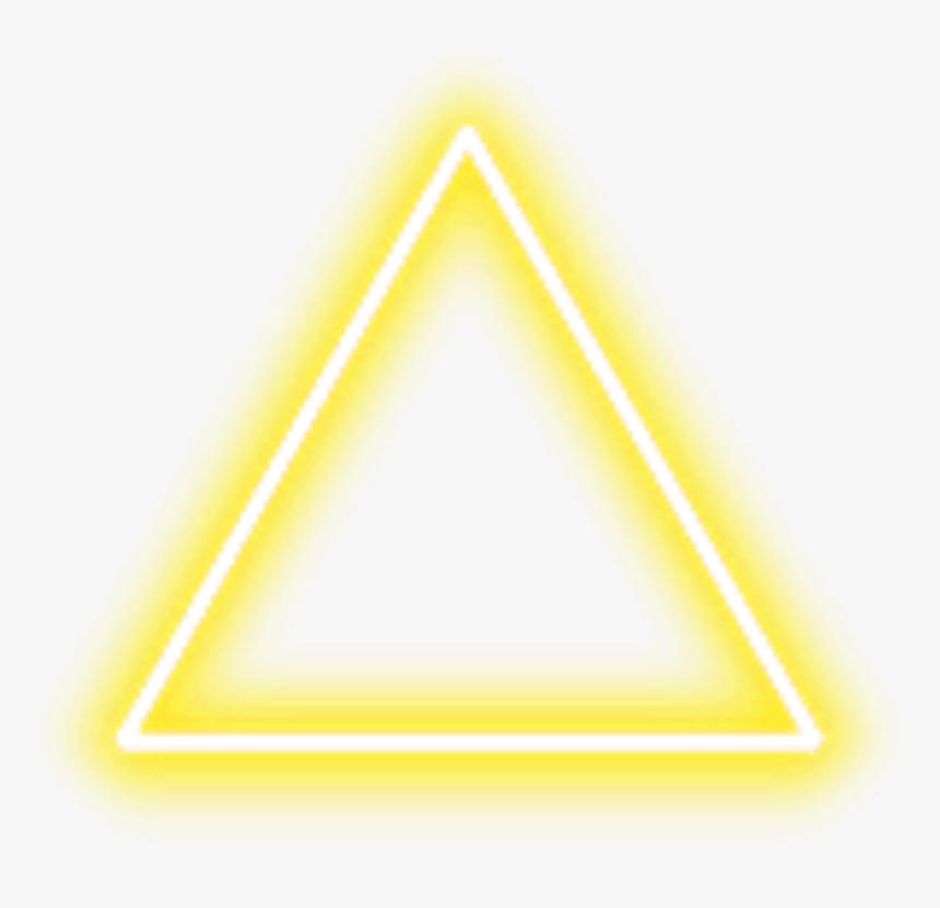 #neon #triangle #border #png #yellow #freetoedit - Triangle Neon Png Green, Transparent Png, Free Download