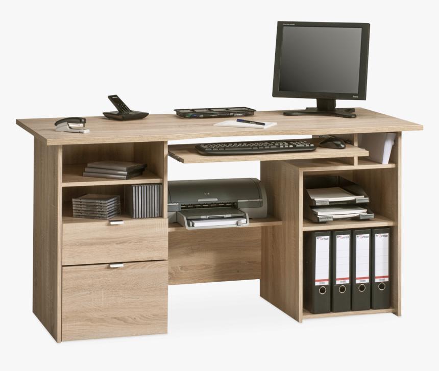 Bureau En Bois Massif Moderne Hd Png Download Kindpng