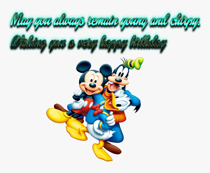 1st Birthday Wishes Png Image Download - Mickey Mouse Cartoons, Transparent Png, Free Download