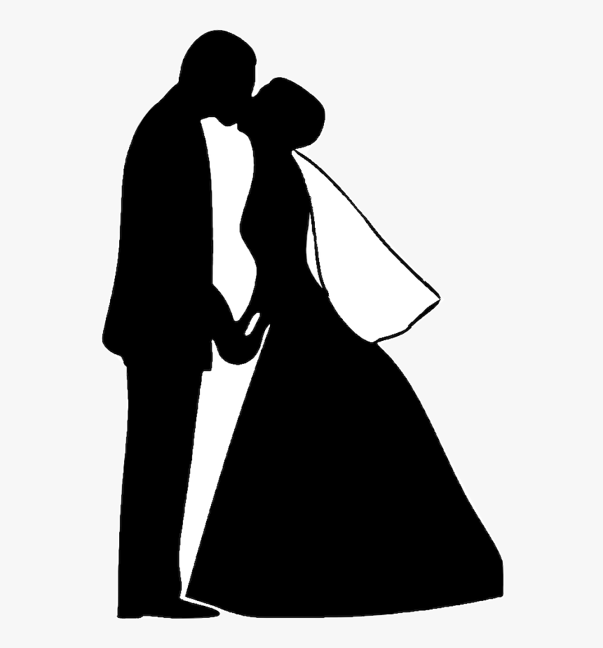Wedding Marriage Bride Clip Art Wedding Couple Silhouette Hd Png Download Kindpng