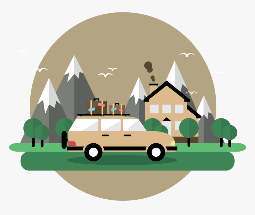 Road Trip Illustration - Illustration, HD Png Download, Free Download