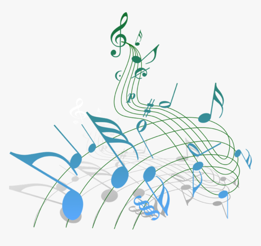 Free Colourful Musical Notes Png - Blue And Green Music Notes, Transparent Png, Free Download