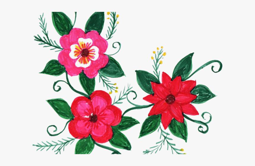 Floral Clipart Group - Flower Design Colorful Transparent, HD Png Download, Free Download