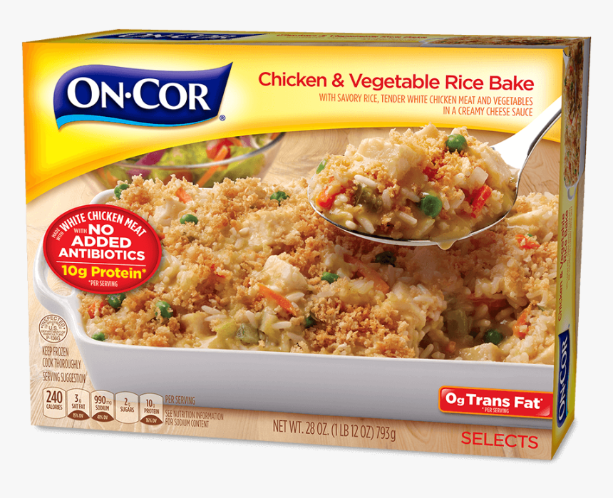 Chicken & Vegetable Rice Bake - Cor Dinners, HD Png Download, Free Download