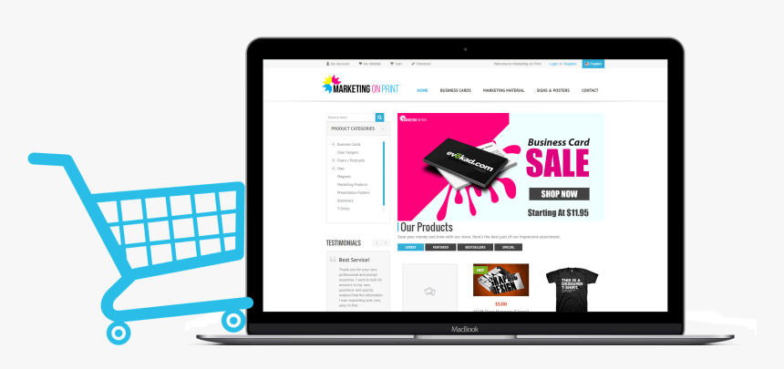 E-commerce Website Design - Online E Commerce Website, HD Png Download, Free Download