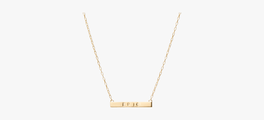 Mini Tall Dog Tag Bar Pendant - Necklace, HD Png Download, Free Download