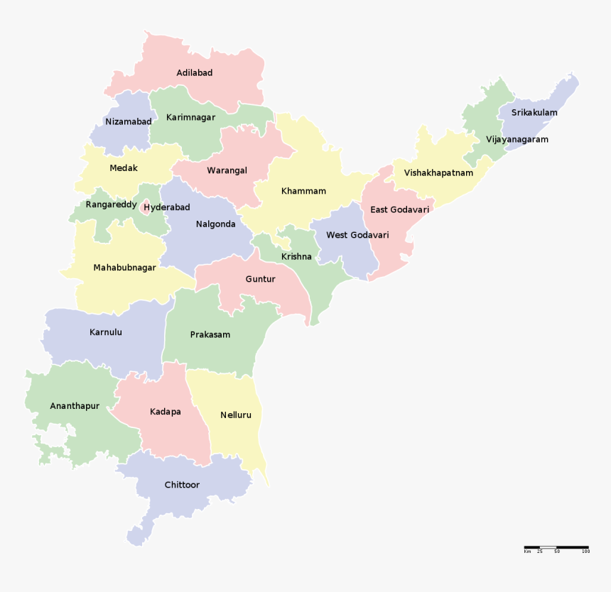 Undivided Andhra Pradesh Map, HD Png Download, Free Download
