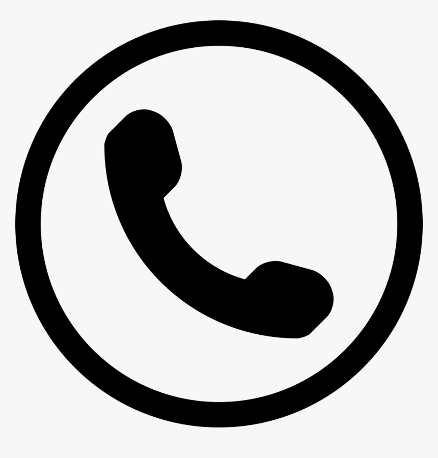 Phone Icons 80 Free Icons - Phone Symbol In Circle, HD Png Download - kindpng