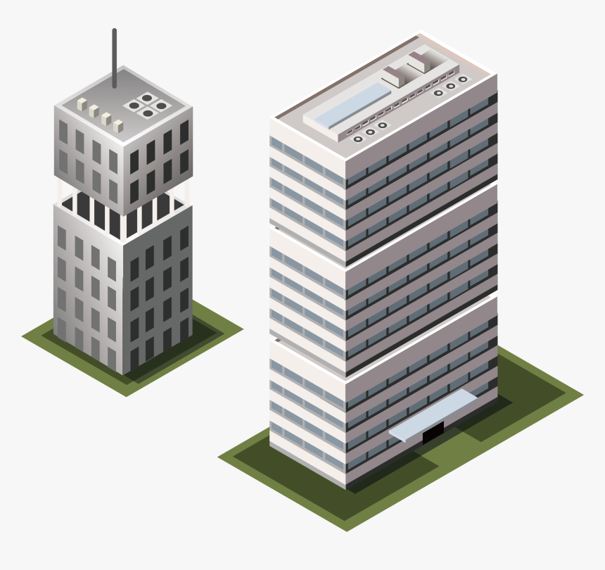 Vector Buildings Transparent - Office Building Icon Png, Png Download, Free Download