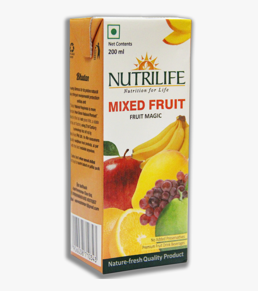Mixed Fruit Small - Nutrilife Mixed Fruit Nectar, HD Png Download, Free Download