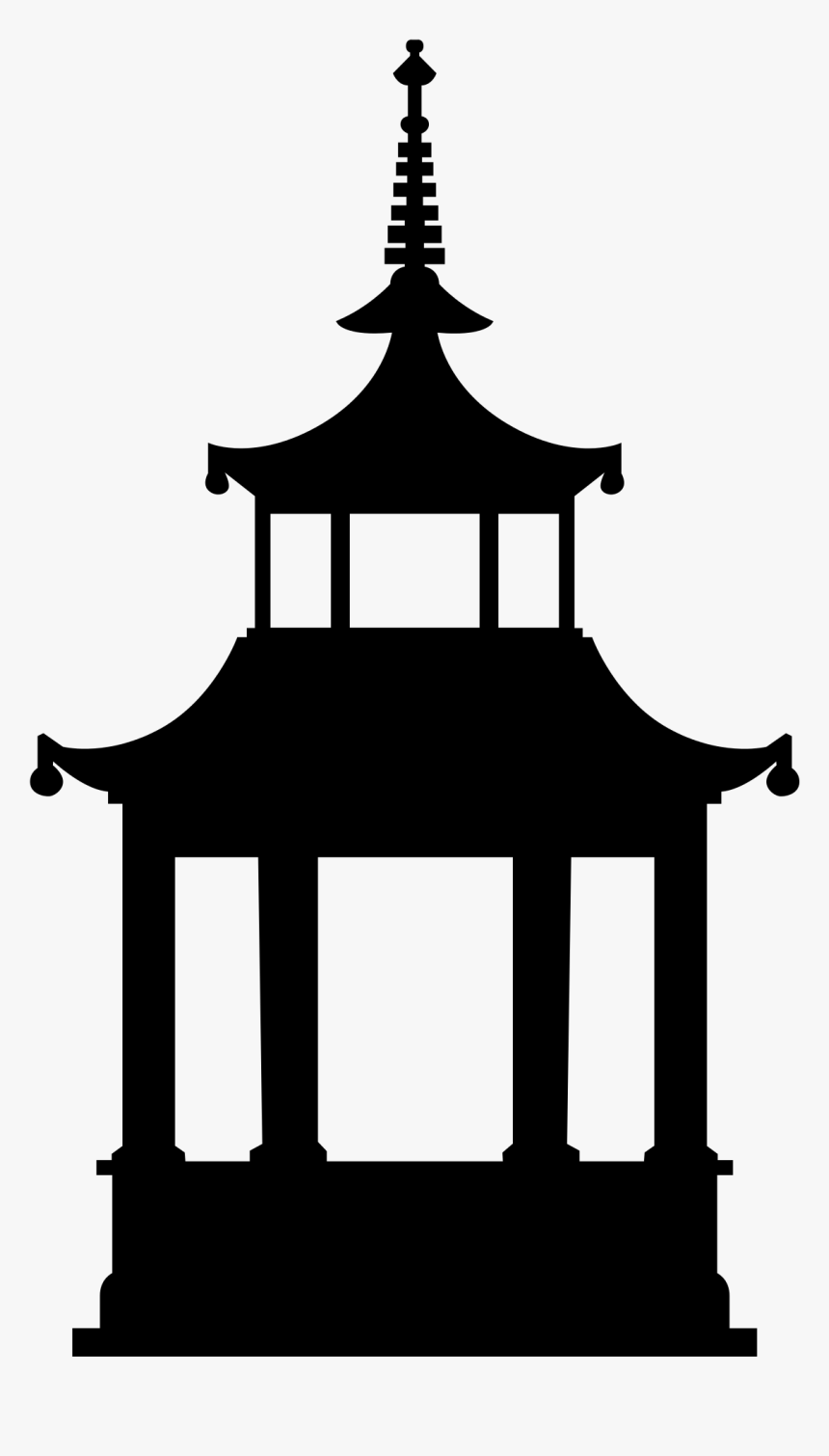Buddhist Temple Computer Icons Buddhism Clip Art - Temple Black And White Png, Transparent Png, Free Download