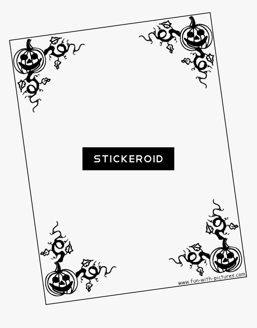 Halloween Border Png - Project Front Page Design, Transparent Png, Free Download