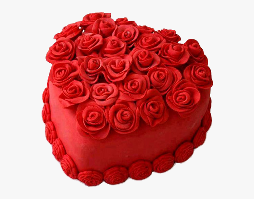 Hot Red Heart Cake - Cake Designs In Heart Shape, HD Png Download, Free Download