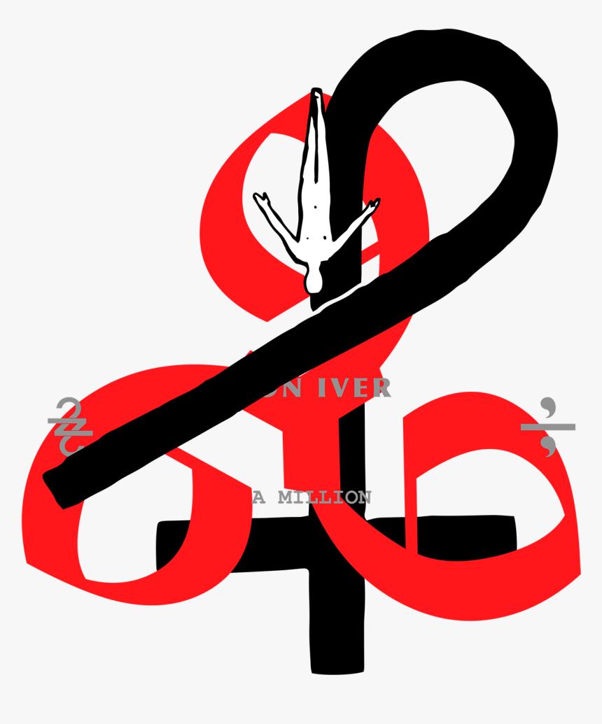 Bi22 666crossc - Bon Iver 22 A Million Art, HD Png Download, Free Download