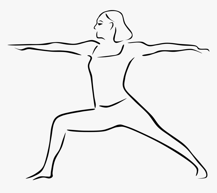 Yoga Clipart Outline - Drawing Of Yoga Poses, HD Png Download, Free Download