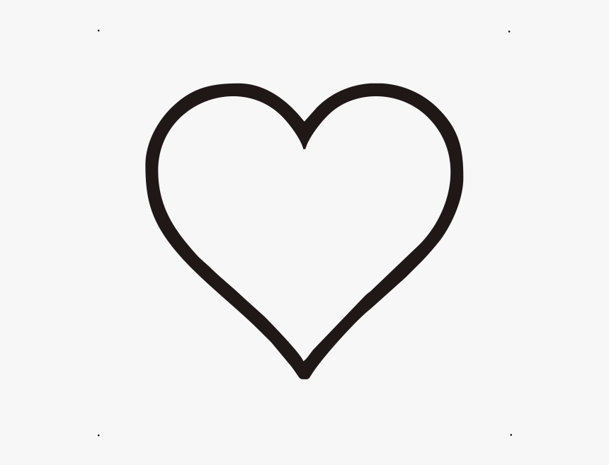 Heart Png Outline Black Heart Outline Transparent Png Download