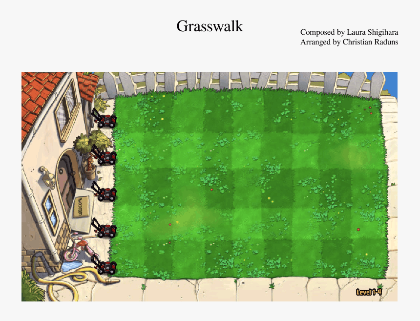 Plant Vs Zombies Map, HD Png Download - kindpng