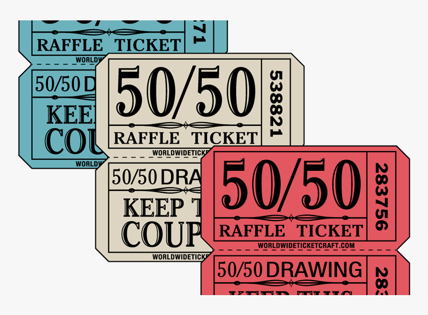 Transparent Raffle Tickets Png - Transparent 50 50 Raffle, Png Download, Free Download