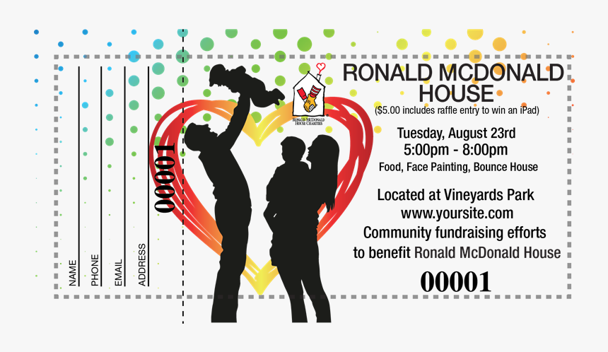 Transparent Raffle Tickets Png - Ronald Mcdonald House, Png Download, Free Download