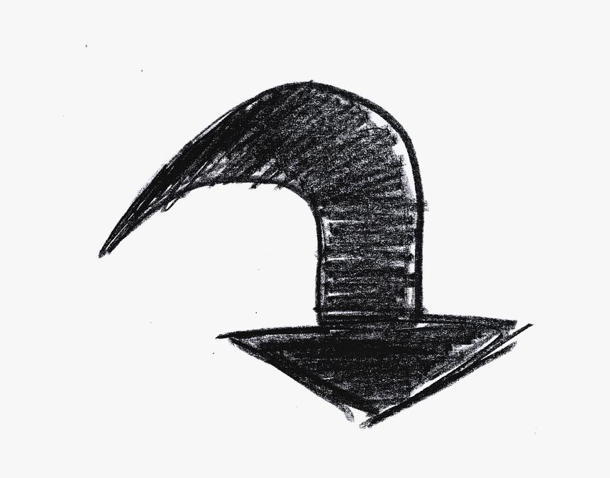 Flèche, Travail Manuel, Prochaine, Droit, Tour, Droite - Doodle Hand Drawn Curved Arrows, HD Png Download, Free Download