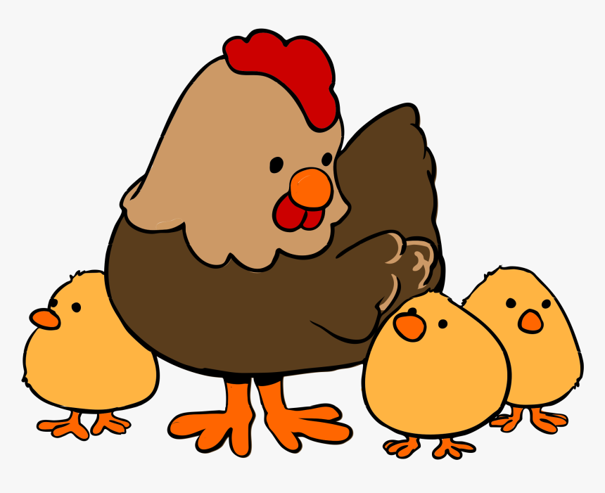 Cartoon Hen And Chicks, HD Png Download, Free Download