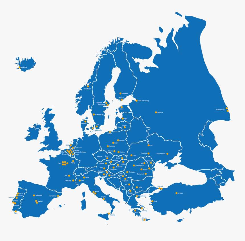map of europe 2020