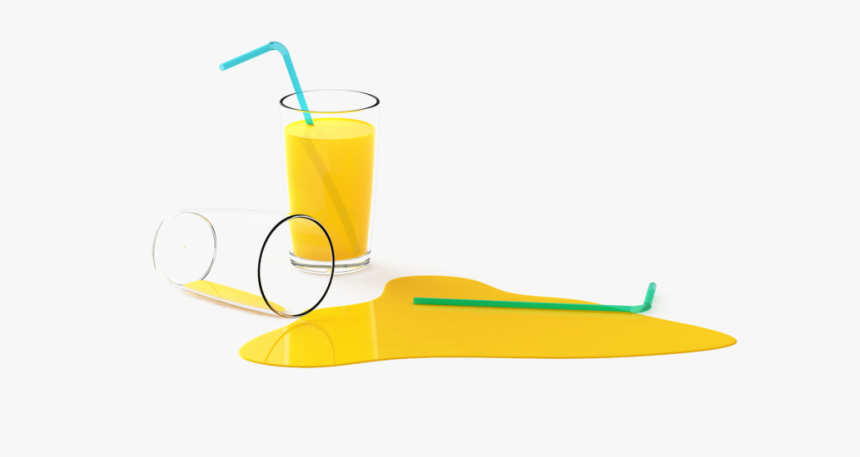 Fallen Glass Of Juice - Fizz, HD Png Download, Free Download