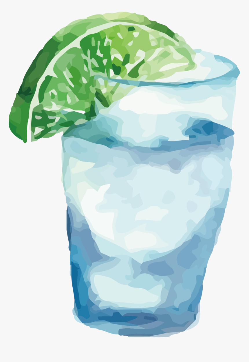 Transparent Frozen Drink Clipart - Water Glass Watercolor Png, Png Download, Free Download