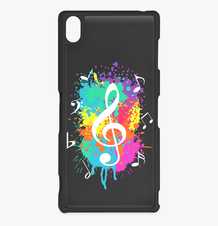 Grunge Music Hard Case For Sony Xperia Z3 - Colorful Music Symbols, HD Png Download, Free Download