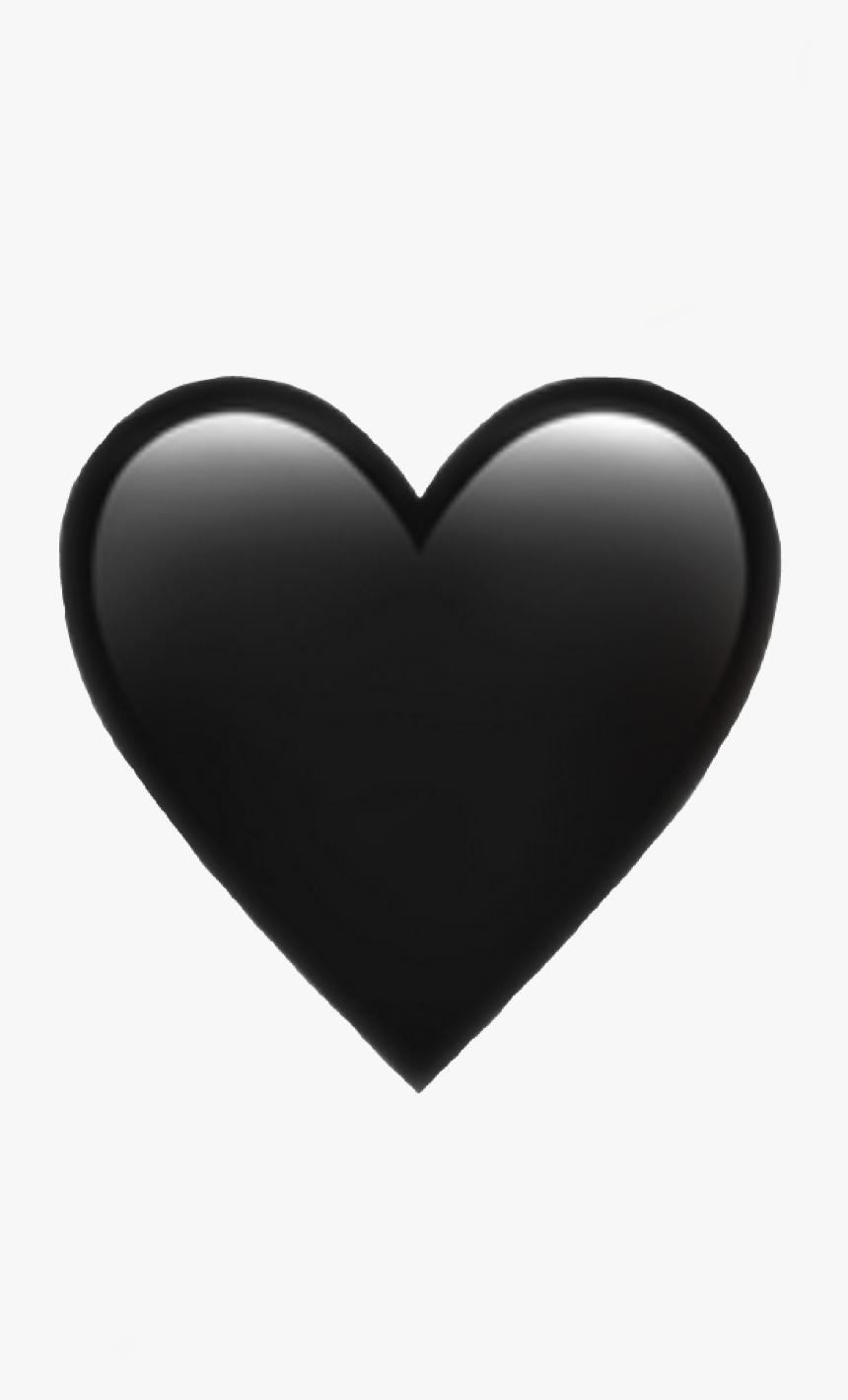 #heart #emoji #iphone #black #emojiiphone #iphoneemoji - Iphone Black Heart Emoji, HD Png Download, Free Download