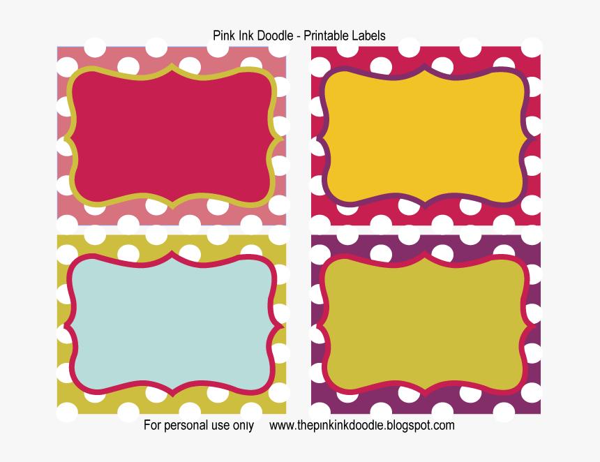 Transparent Blank Sticker Png - Free Printable Labels, Png Download, Free Download