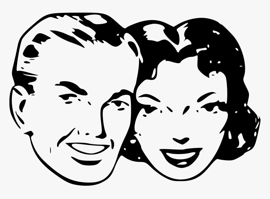 People Clipart Retro Clip - Retro Clip Art Png, Transparent Png, Free Download