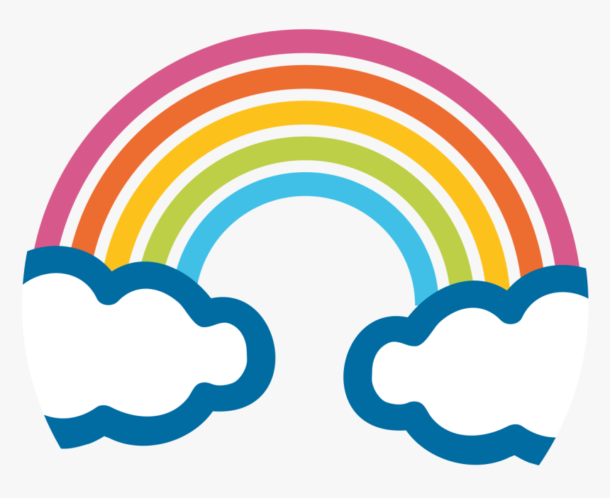 Transparent Rain Emoji Png - Transparent Background Rainbow Emoji, Png Download, Free Download