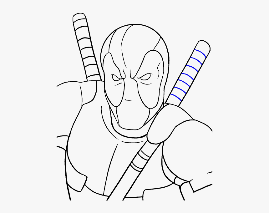 How To Draw Deadpool Draw Deadpool Full Body Easy Step By Step Hd Png Download Kindpng