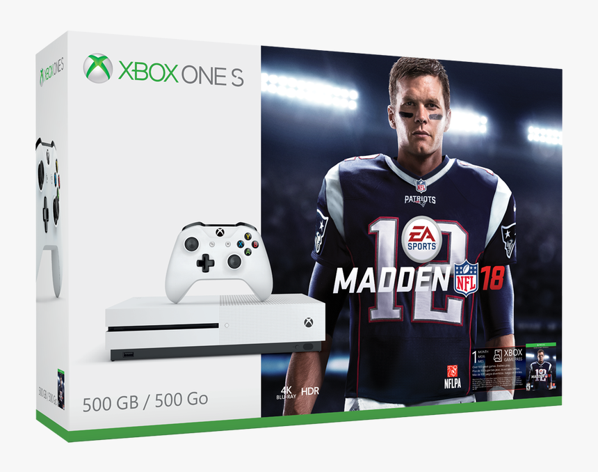 Xbox One S Madden 18 Bundle, HD Png Download, Free Download