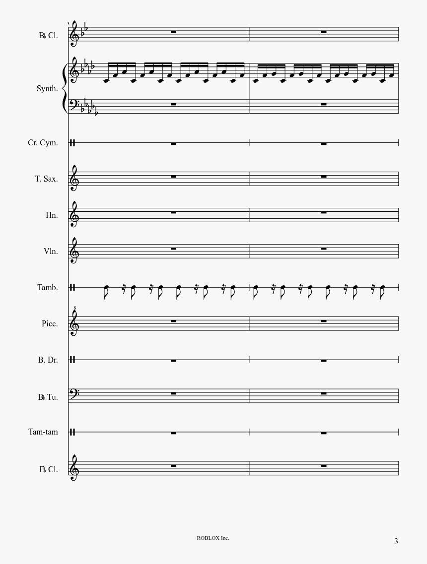 Roblox Theme Song Piano Sheet Music, HD Png Download, Free Download