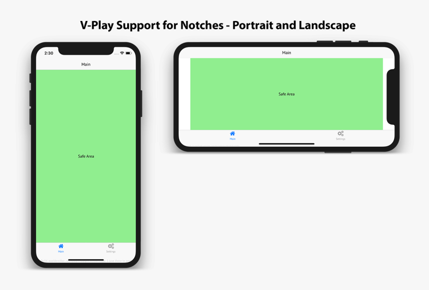 Felgo Support For Iphone X And The Notch - Iphone X Navigation Bar, HD Png Download, Free Download