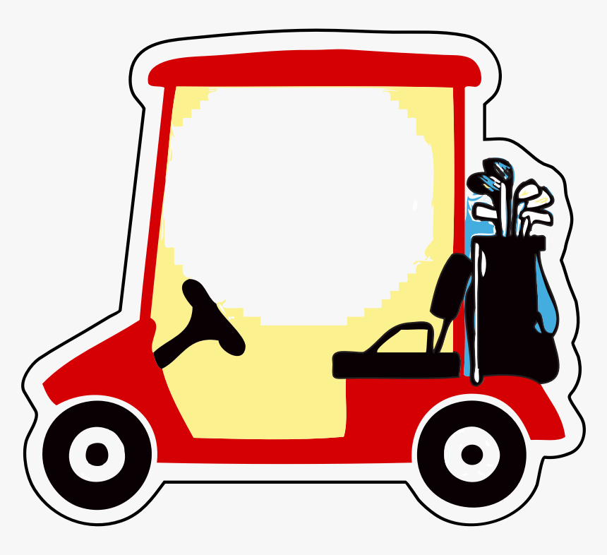 Golf Cart Clipart Golf Cart Image Cartoon Hd Png Download Kindpng